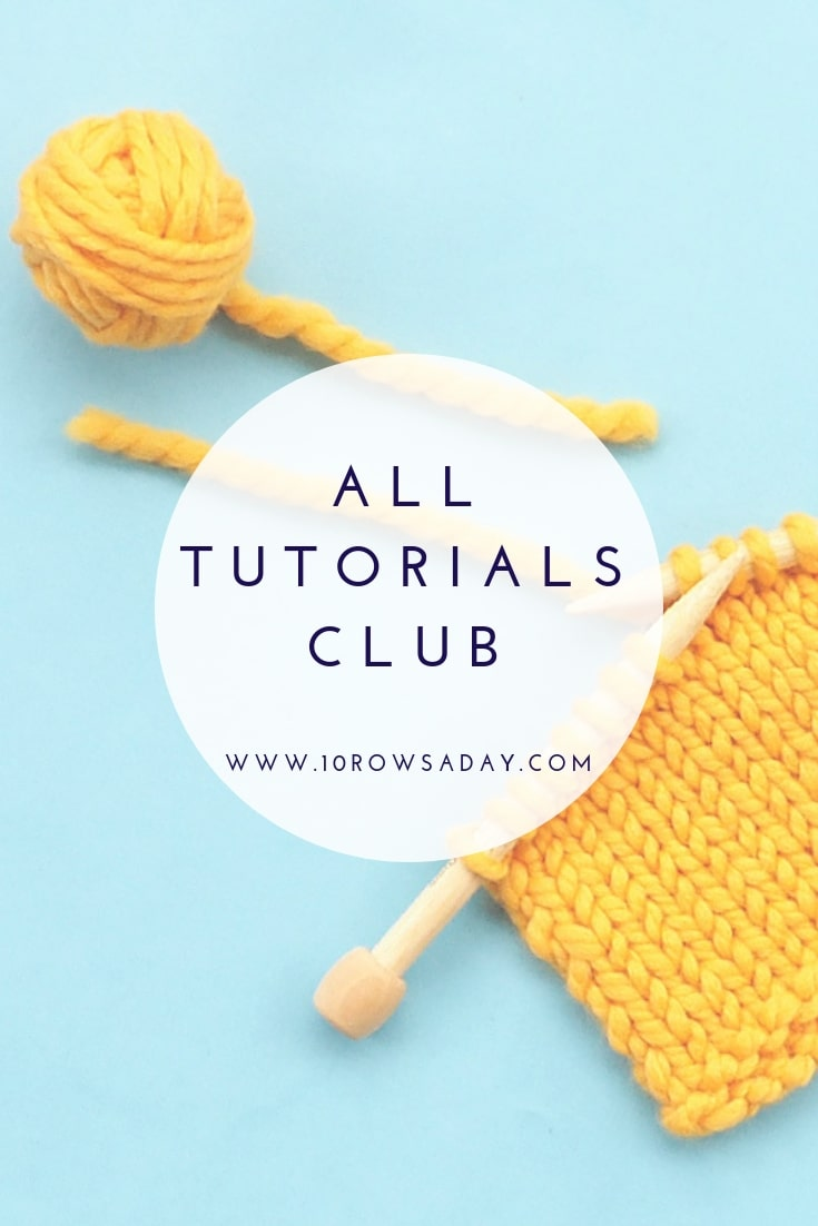 All Tutorials Club | 10 rows a day