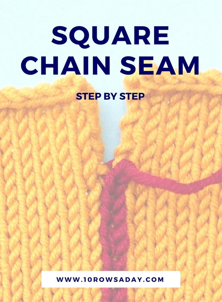 Square chain seam step by step | 10 rows a day