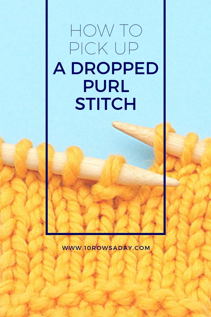 How To Fix A Dropped Sch Without Crochet Hook 10 Rows Day