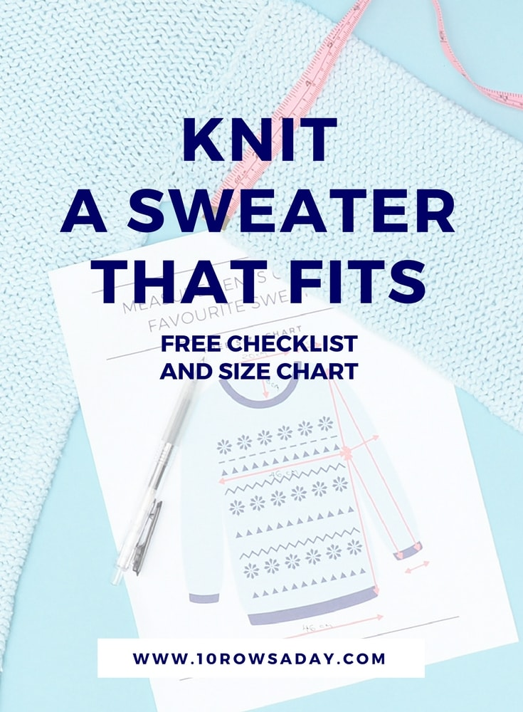Knit a sweater that fits | 10 rows a day