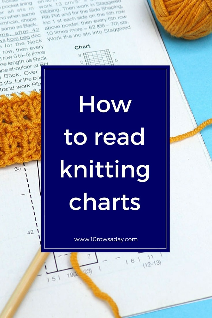 How to read knitting charts | 10 rows a day