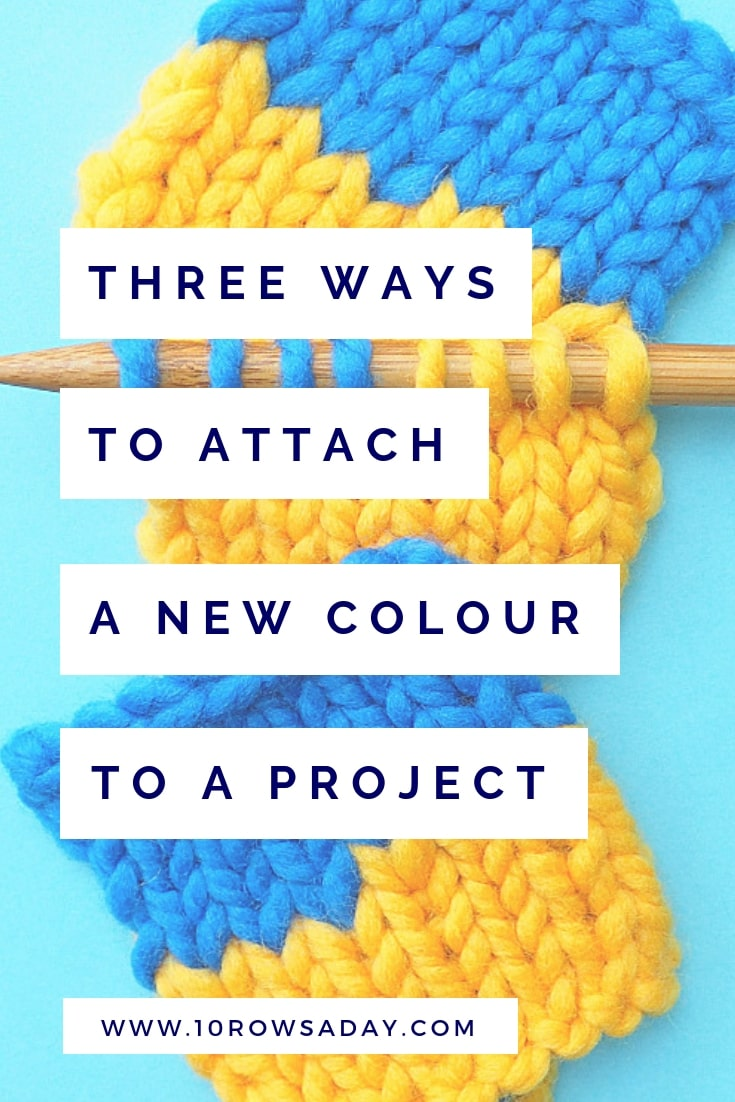 Three Ways to Attach a New Colour to a Project | 10 rows a day