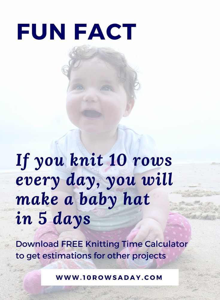 Get over 80 estimations in the FREE knitting time calculator