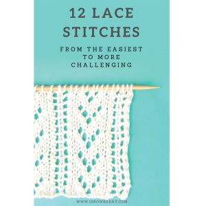 12 lace Stitches E-Book