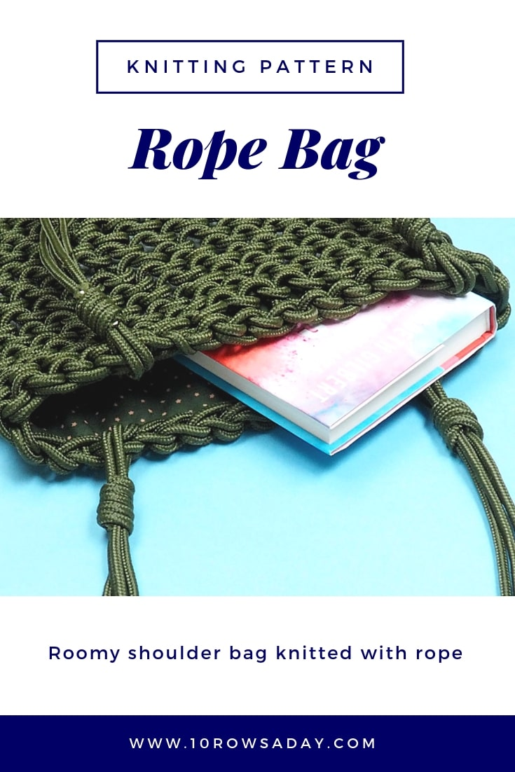 Rope Bag - Knitting Pattern | 10 rows a day