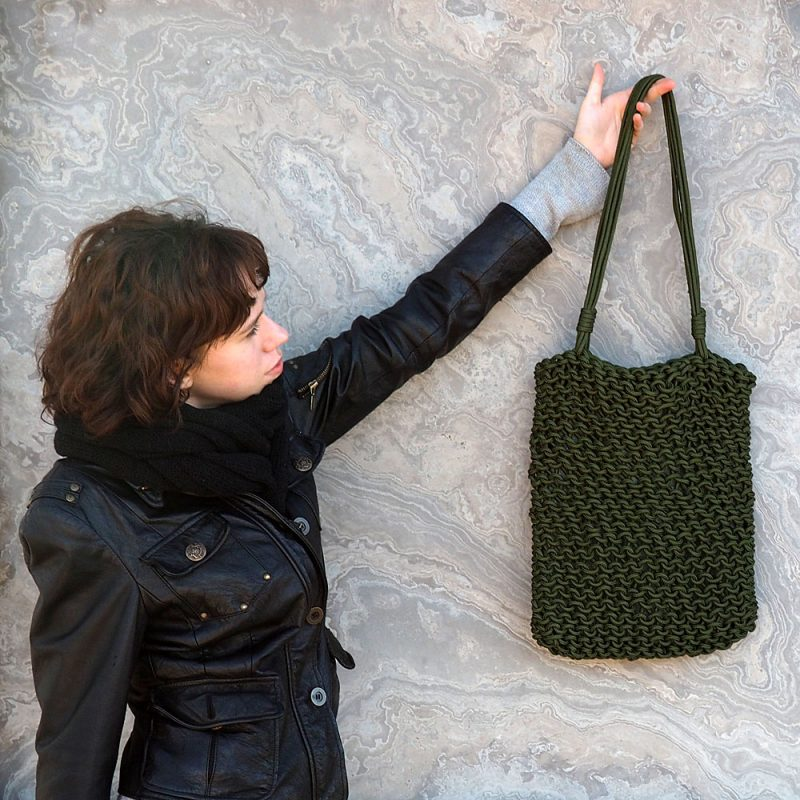 Rope Bag Knitting Pattern