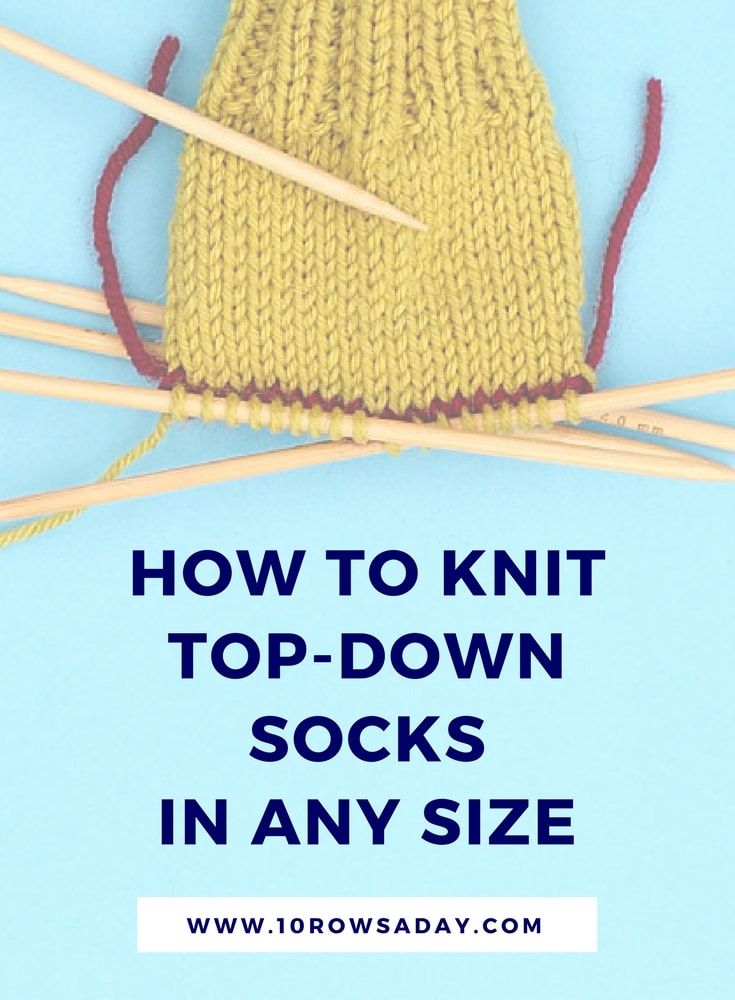 Simple Way to Knit Socks - Online Course | 10 rows a day