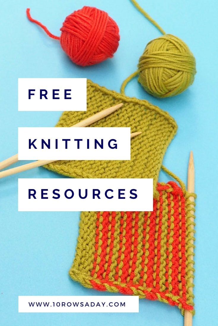 Library of Free Knitting Resources | 10 rows a day