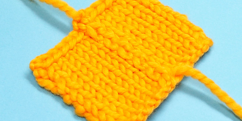 Flat Vertical Seam for Reverse Stockinette Stitch
