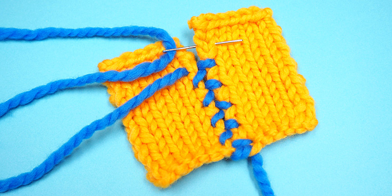 How to Sew Knitted Squares or Panels Together to Make a Blanket