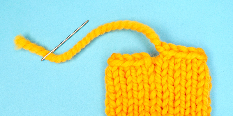 Simple Way to Fix Gap in the Bind Off Edge Worked in the Round
