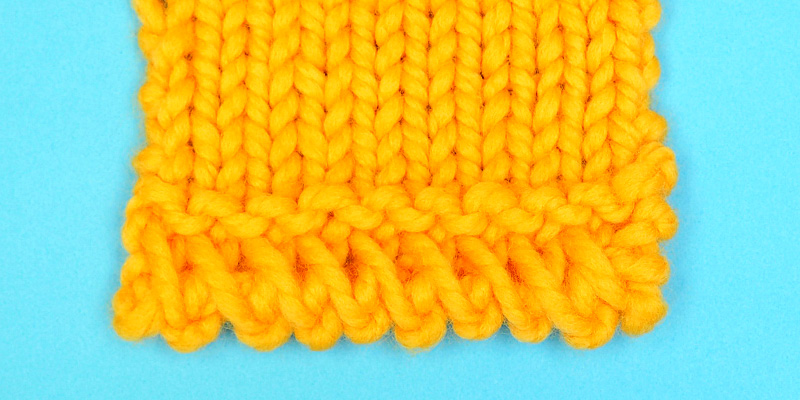 Criss-Cross Cast On Border - Beautiful Edging for Hats, Shawls, Blankets and Sweaters