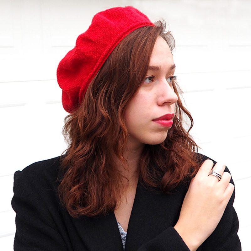 Brigitte Beret - classic top-down French beret