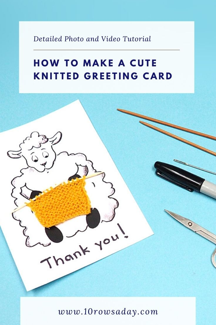 Simple Way to Make a Knitted Greeting Card  | 10 rows a day