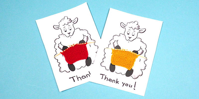 Simple Way to Make a Knitted Greeting Card