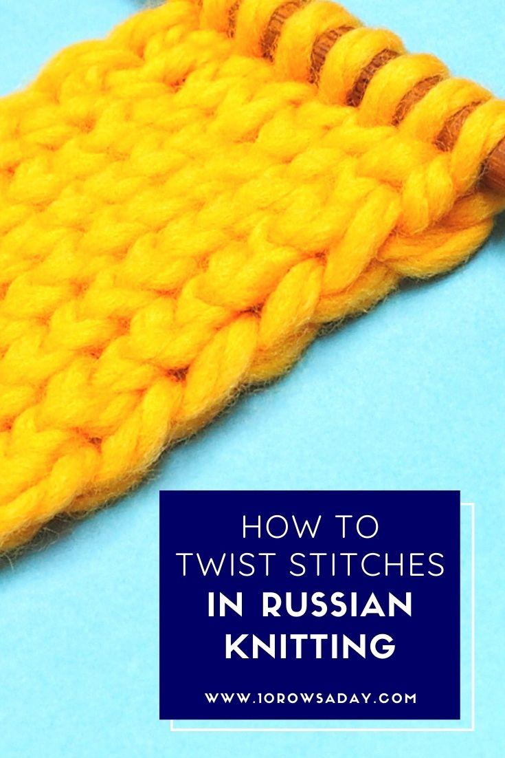 Cómo hacer puntadas torcidas en tejido ruso »Wiki Ùtil  10 filas al día