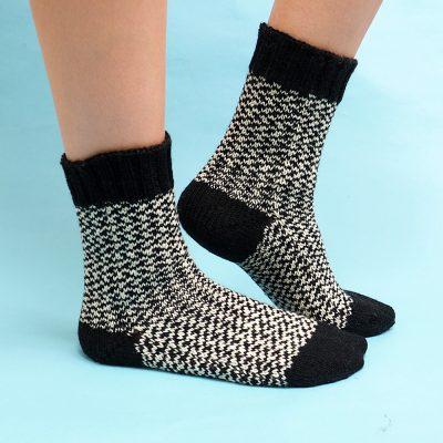 Binary Socks Knitting Pattern