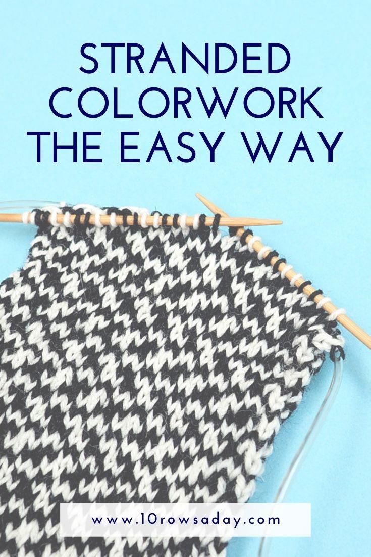 Manera fácil de sujetar hilo para tejido trenzado - English y Continental    10 filas al día