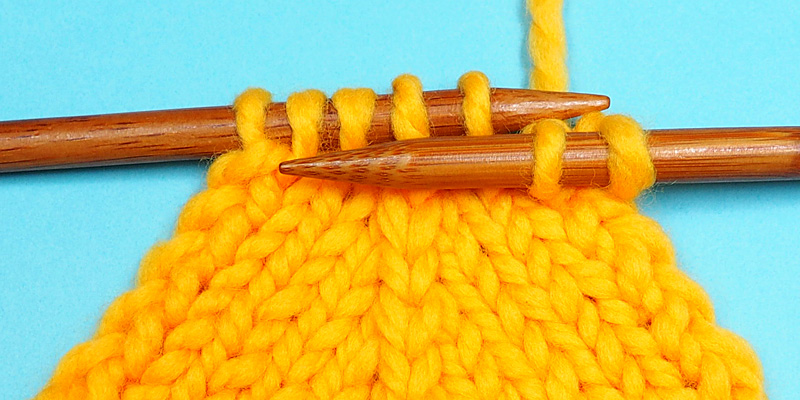 Centred Double Decrease in Russian Knitting